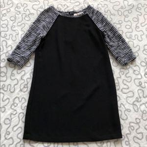 Loft Black Tweed Shift Dress 10